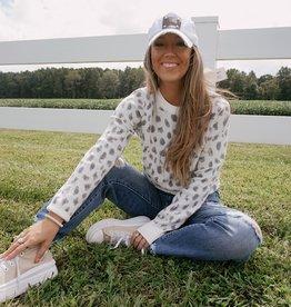 Audrey Ivory Leopard Sweater