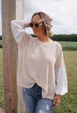 Willow Contrast Animal Print Waffle Knit Top
