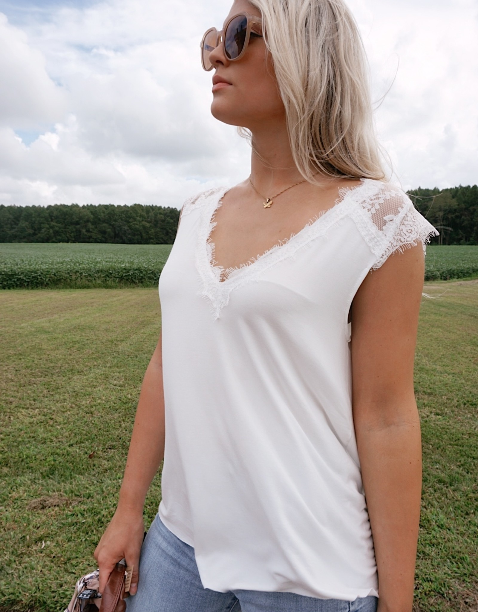 Sophie Lace Detail  Tee