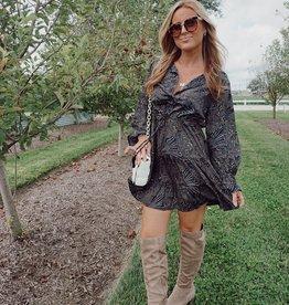 Susanne Metallic Floral Mini Dress