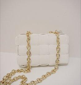 Weave Chain Cassette Crossbody Bag