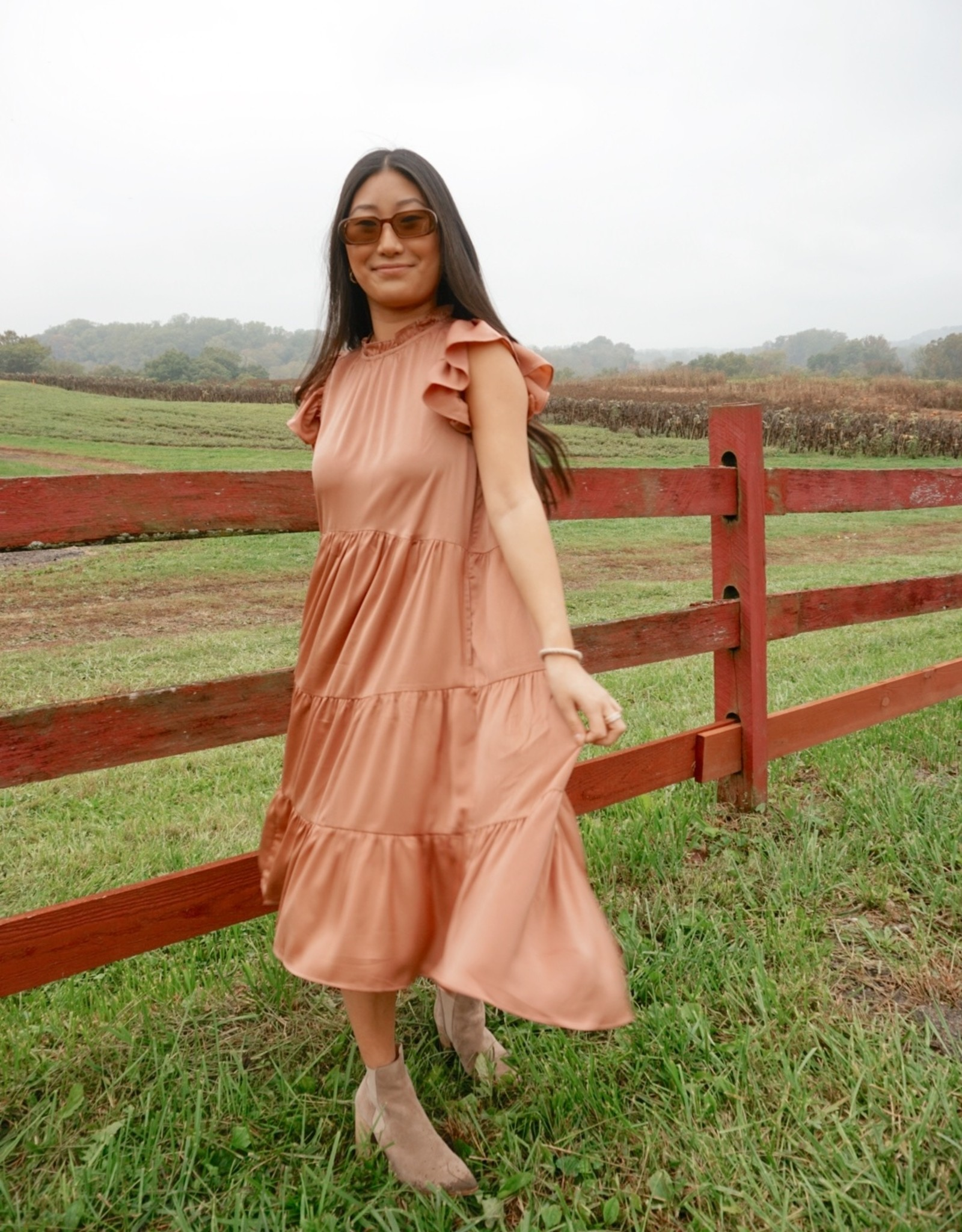 Carson Tiered Midi Dress