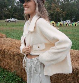 Lilias Soft Fleece Ivory Shacket