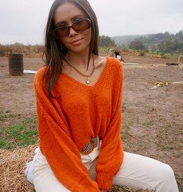 Maddie V-neck Crop Sweater