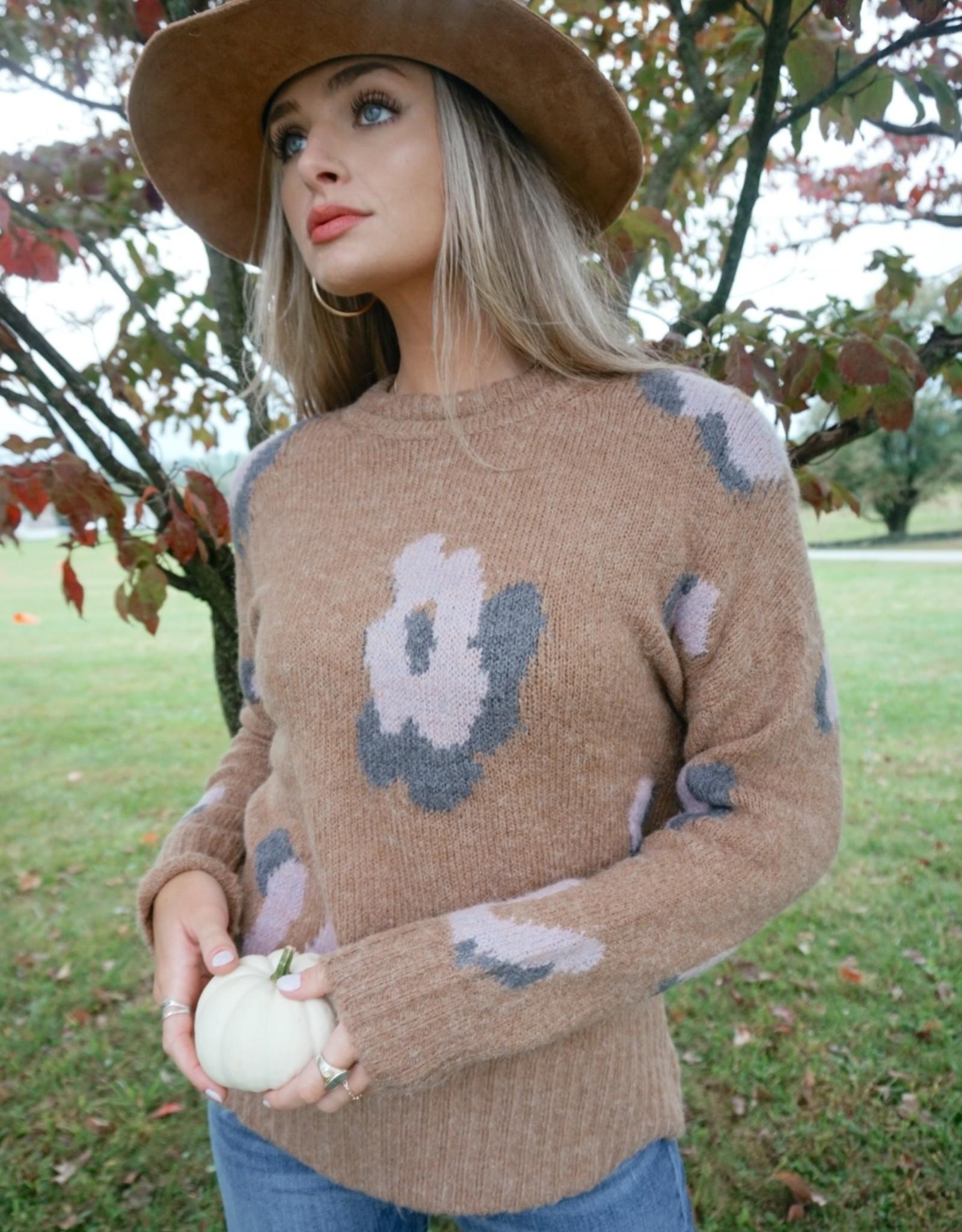 Murietta Floral Knit Sweater