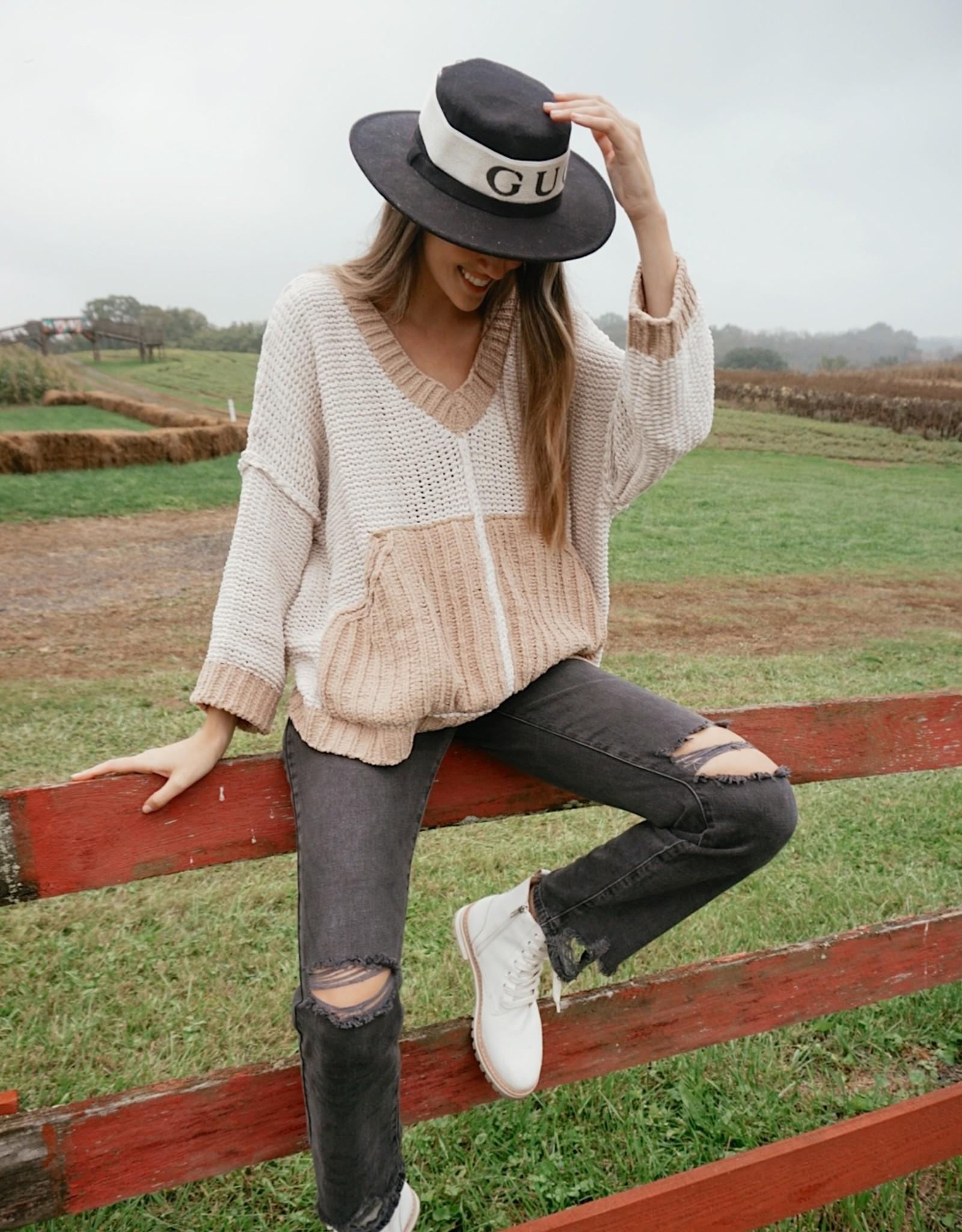 Rachael Oversized Two Tone Sweater