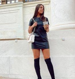 Diana Faux Leather Mini Dress