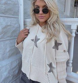 Maxine Star Print Sweater Hoodie