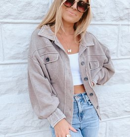 Jemma Cropped Shirt Jacket