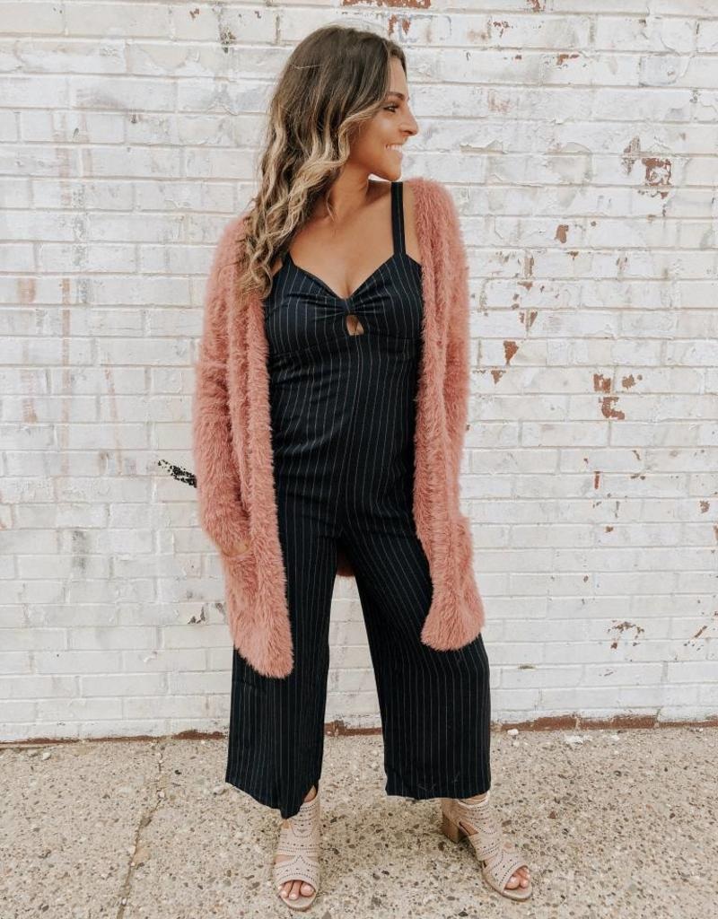 Free People Faux Fur Cardi