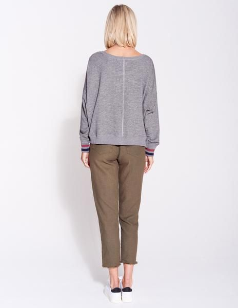 Sundry Sundry Stripe Bubble Sweatshirt