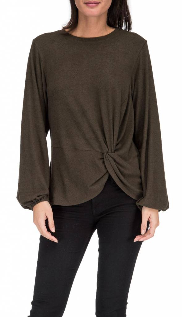 Bobeau Bobeau Sierra Side Knot Top