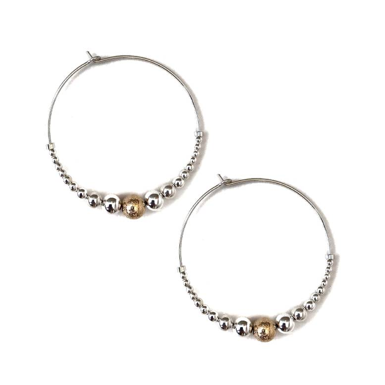 Pliers & Strings Pliers Caviar Large Hoop Earrings