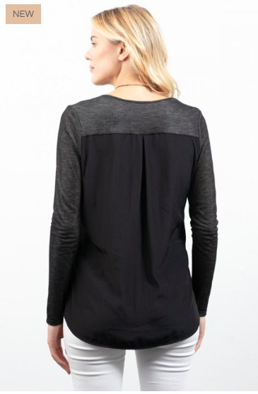 Lola and Sophie Lola Long Sleeve V Neck Top