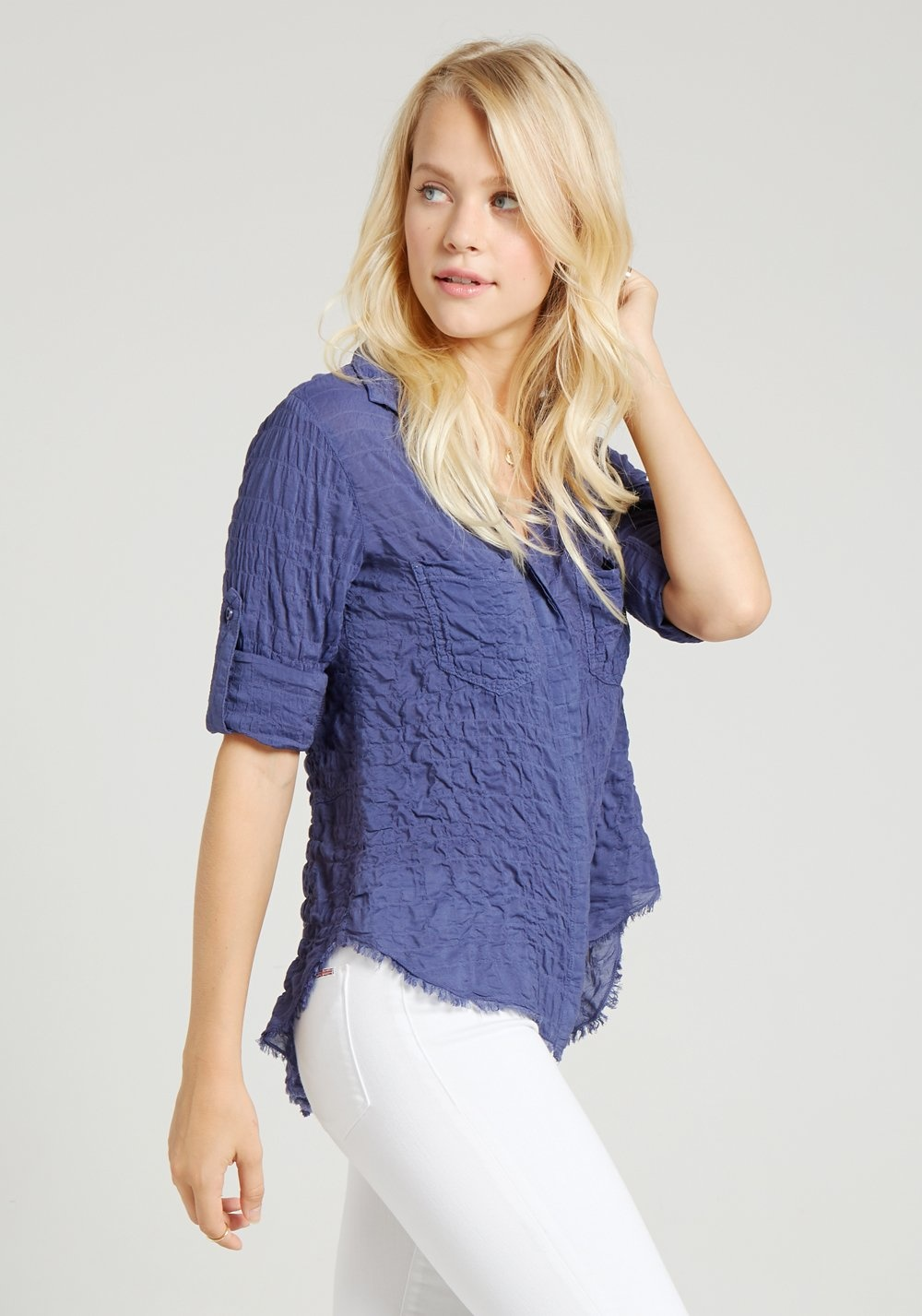 Bella Dahl Bella Dahl Split Back Button Down Tee