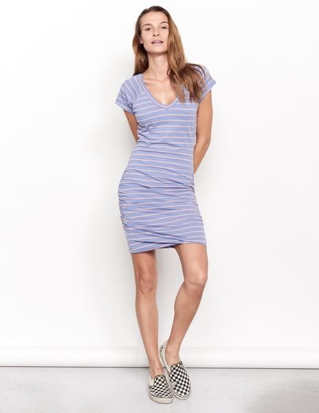 Sundry Sundry Stripes V Neck Dress