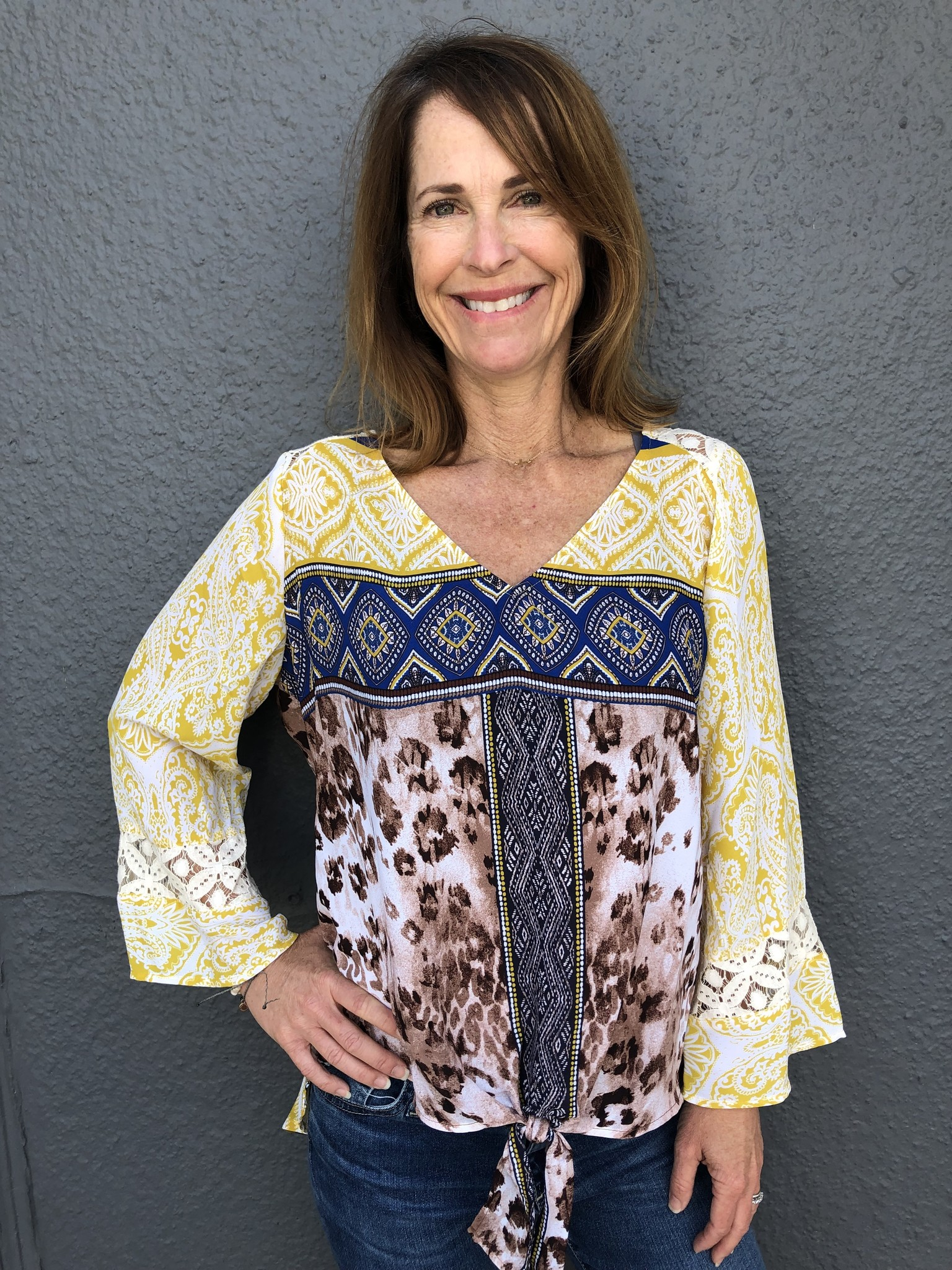 Olive Hill Olive Hill Yellow Blouse