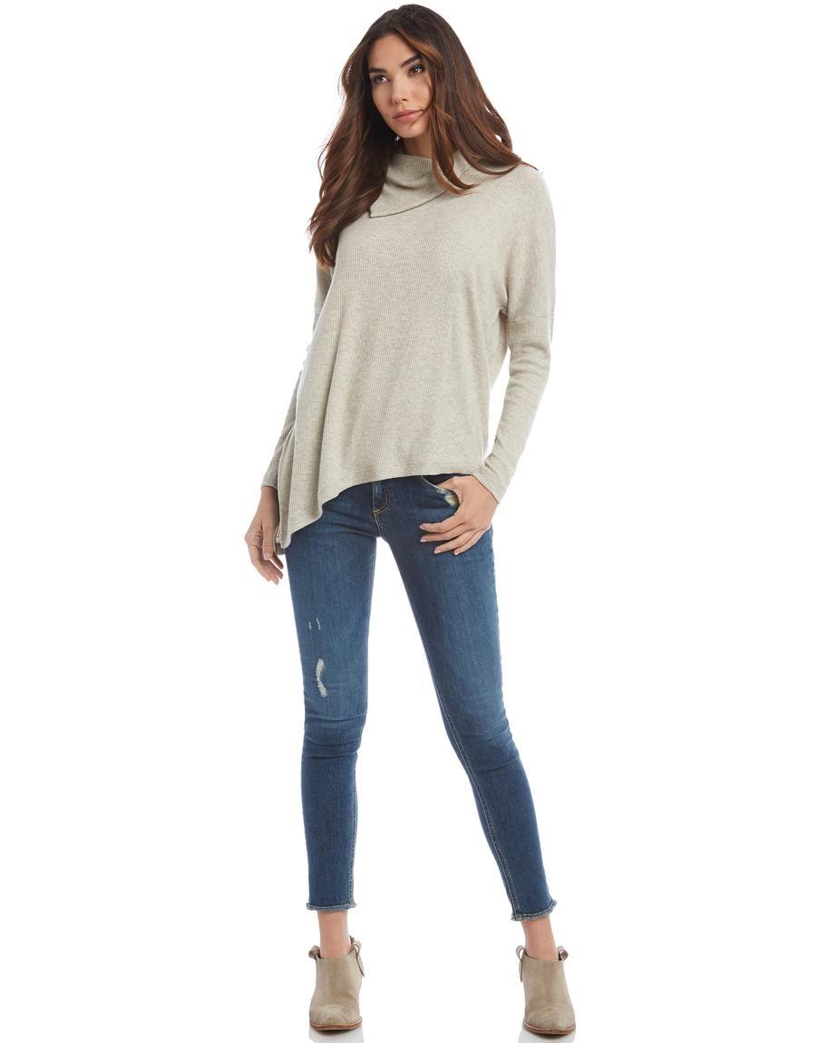 Fifteen-Twenty Fifteen Twenty Asymmetric Sweater