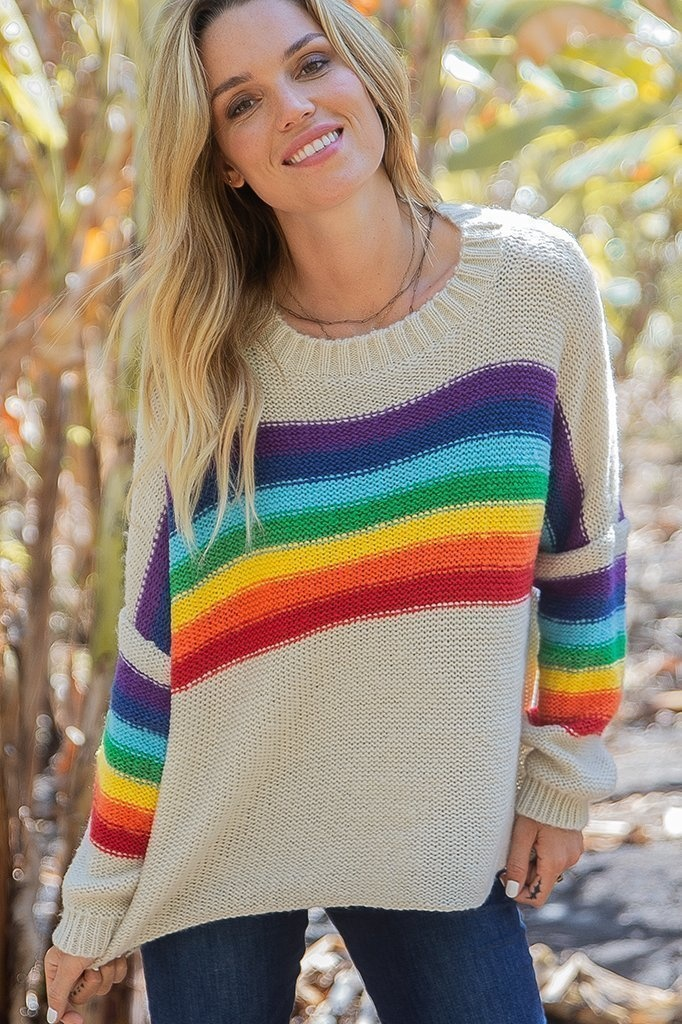 Wooden Ships Wooden Ships Rainbow Sweater