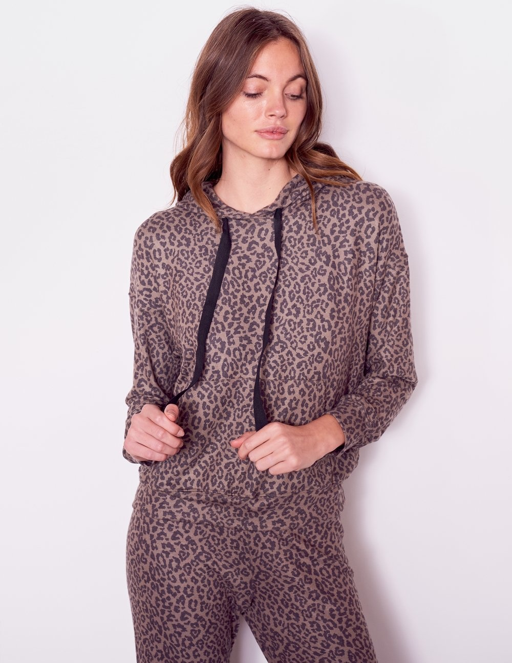Sundry Sundry Leopard Hoodie