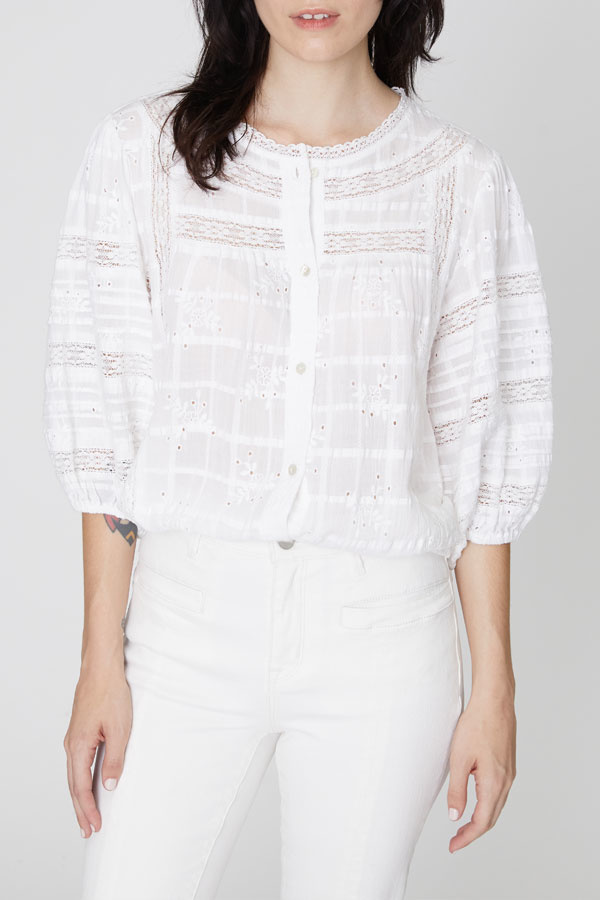 Sanctuary Sanctuary  Embroidered Heirloom Blouse