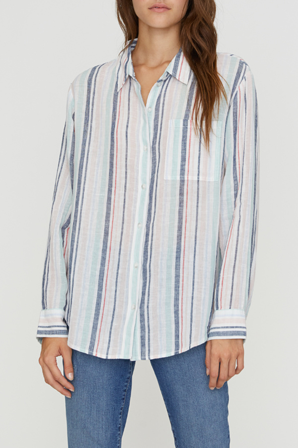 Sanctuary Sanctuary Boyfriend Stripe Shirt