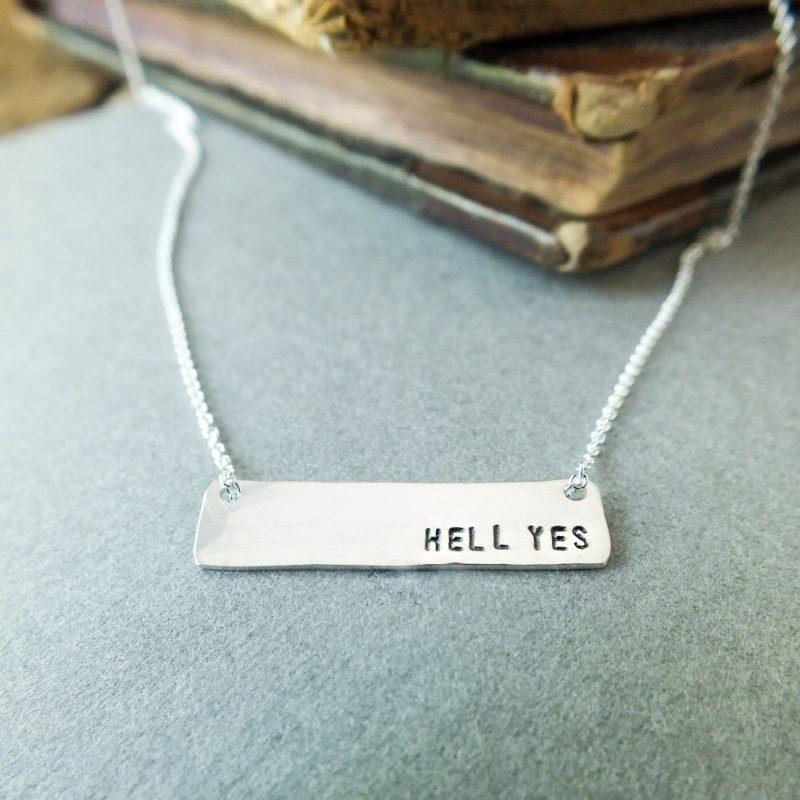 BCG BCG  Small Bar Sterling Necklace