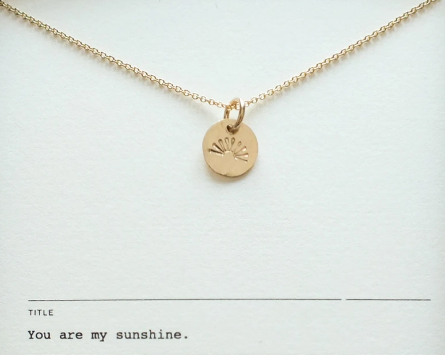 "BCG BCG Gold Fill ""You Are My Sunshine"" Necklace"