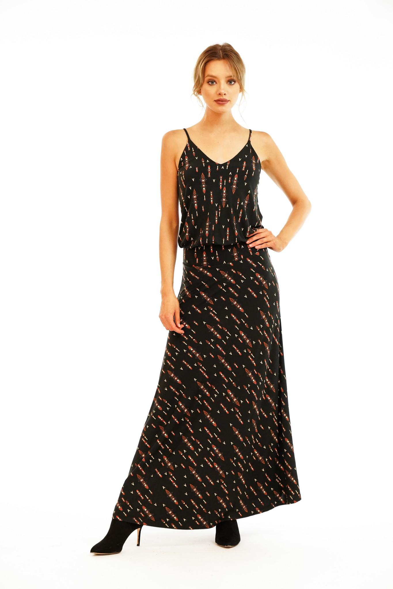 Veronica M Veronica M Drop Waist Maxi Dress