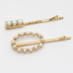 Estella Bartlett Estella Bartlett Small Pearl Hair Slide Set