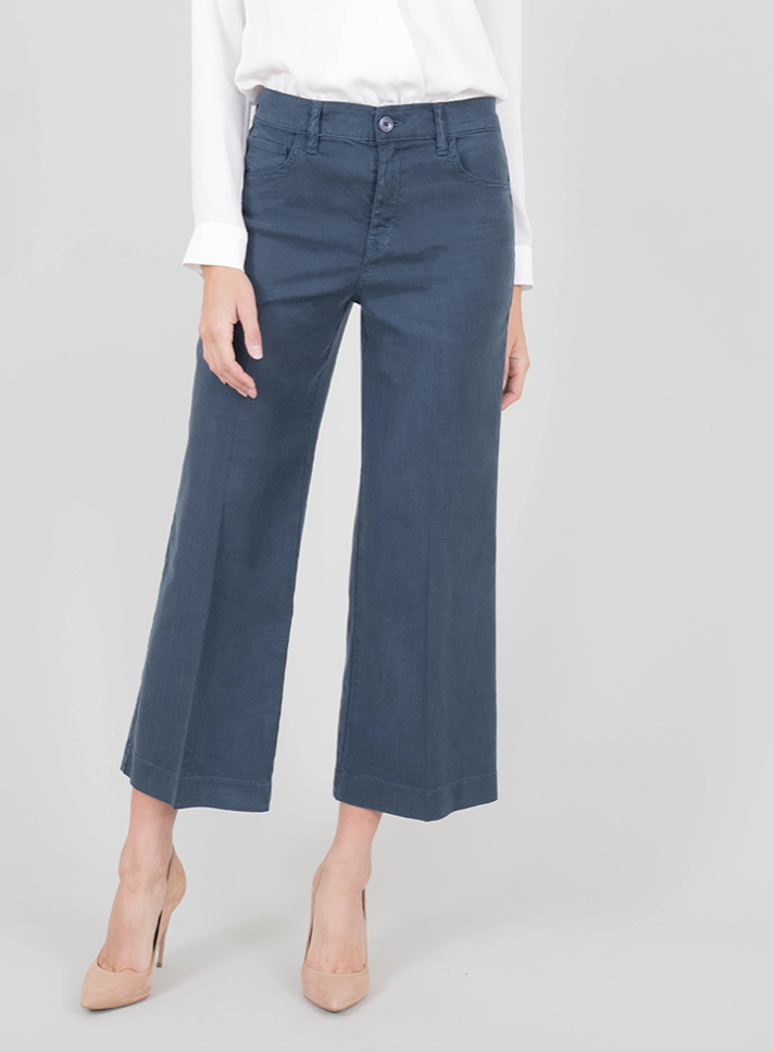 Level 99 Level 99 Stretch Linen Ankle Pant