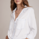 Bella Dahl Bella Dahl Two Pocket Tie Front Blouse