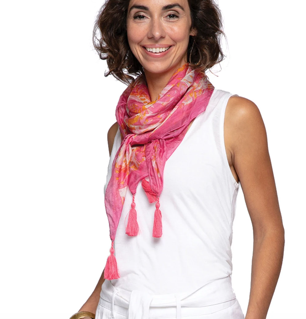 RFP RFP Katarina Pink Silk Scarf