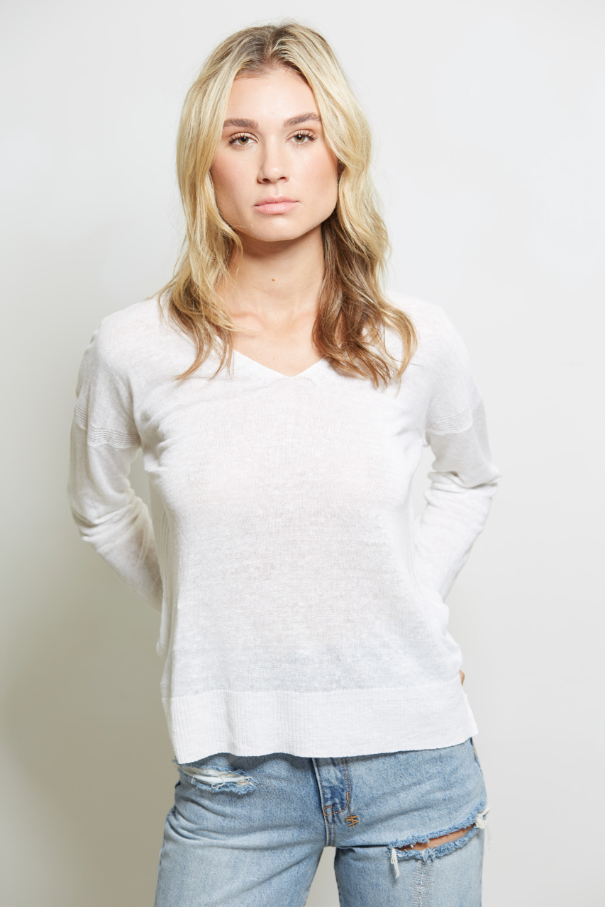 SWTR SWTR Linen V-Neck Sweater