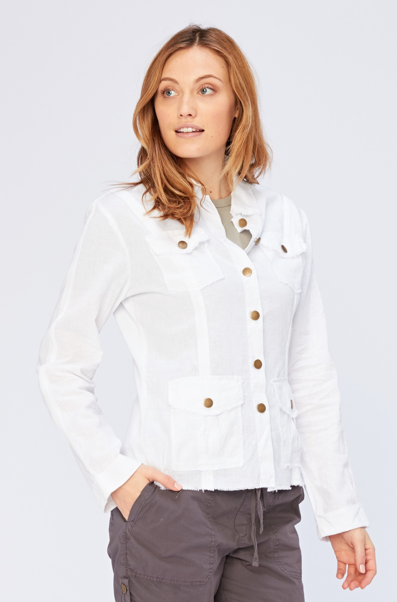 XCVI XCVI Linen Raw Edge Jacket