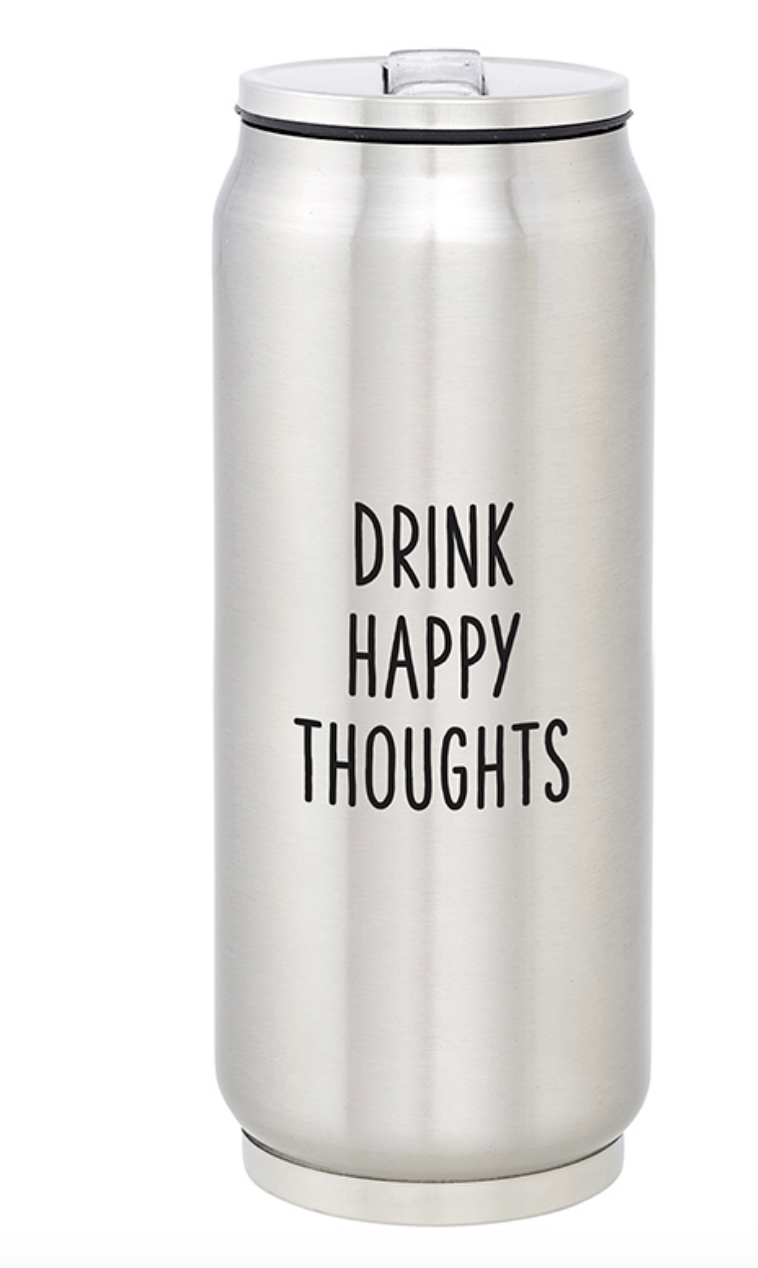Creative Brands Stainless Can- Drink Happy Thoughts