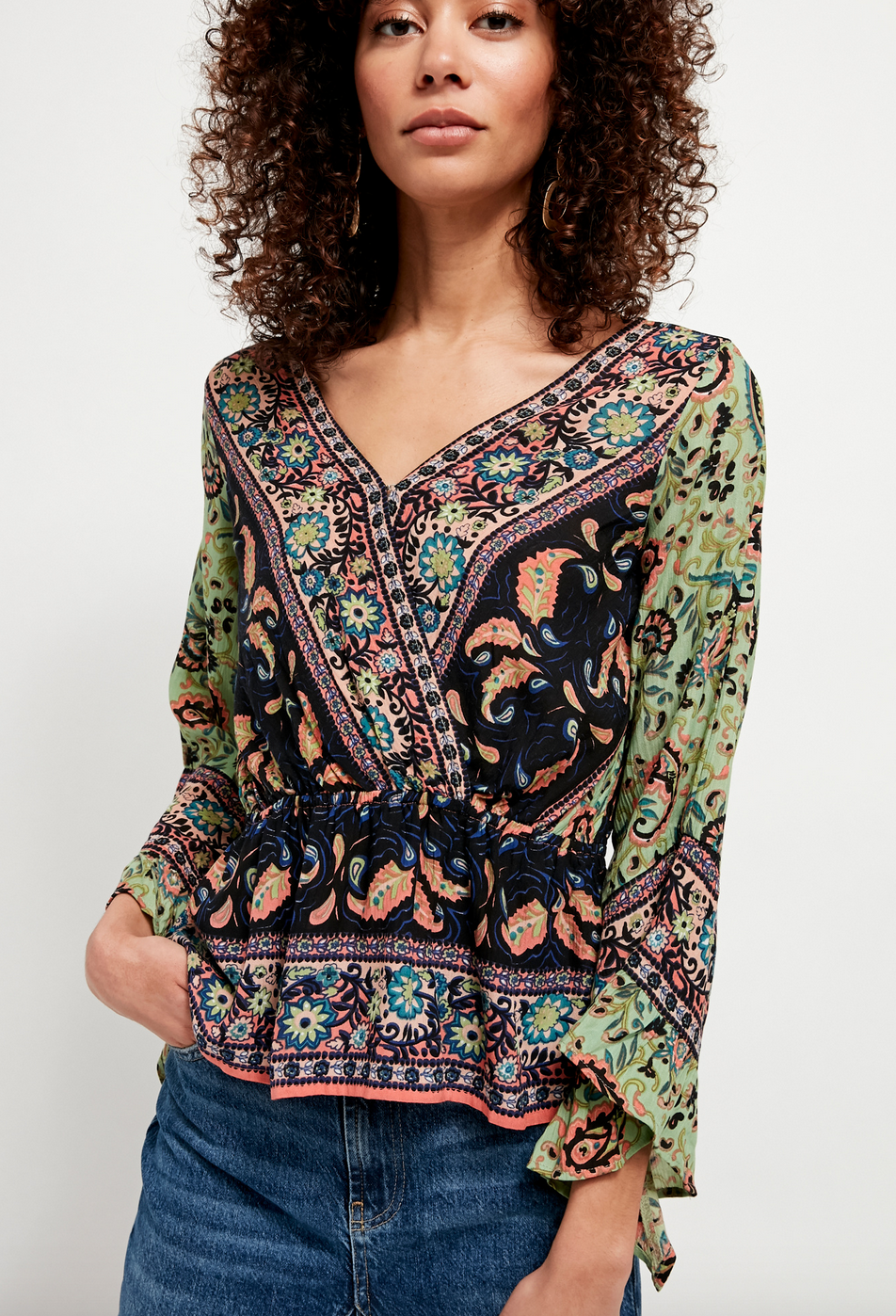 Free People Free People Rosalie Wrap Top