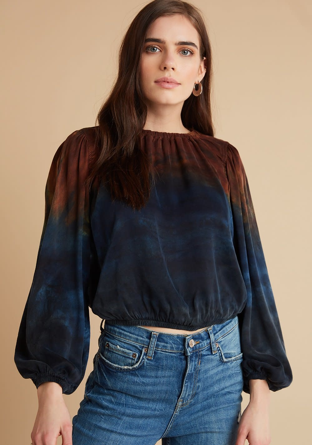 Bella Dahl Bella Dahl Elastic Shirred Top