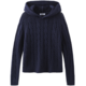 525 525 Cable Knit Pointelle Long Sleeve Hoodie