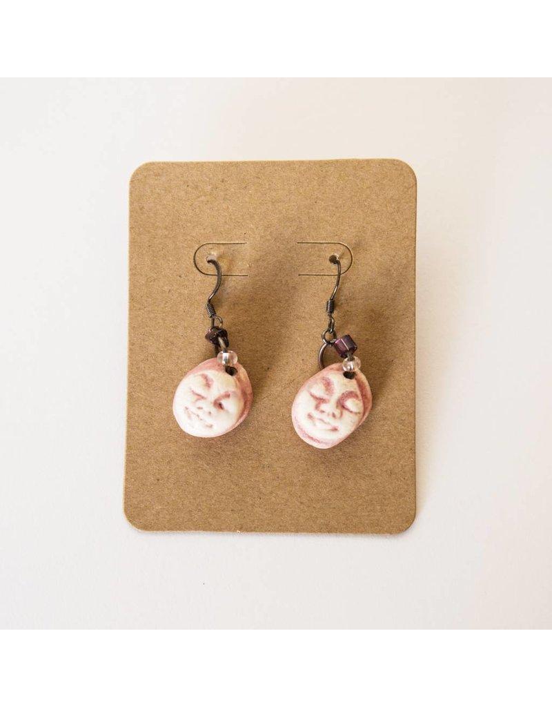 Sharon Ramick Sharon Ramick - Pink Face Earrings