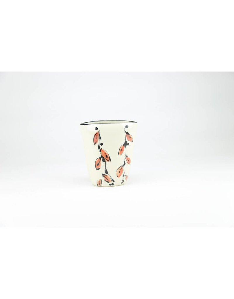 Linda Bowman Linda Bowman - Vase - Leaf Design