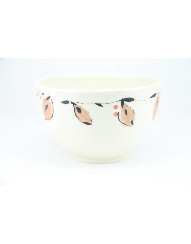Linda Bowman Linda Bowman - Large Bowl - Leaf Design