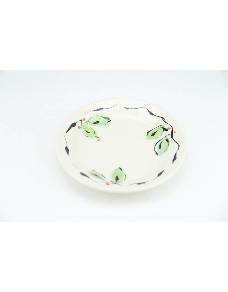 Linda Bowman Linda Bowman - Small Plate - Leaf Design