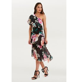 Cooper St Cooper St Petal Pop one shoulder dress