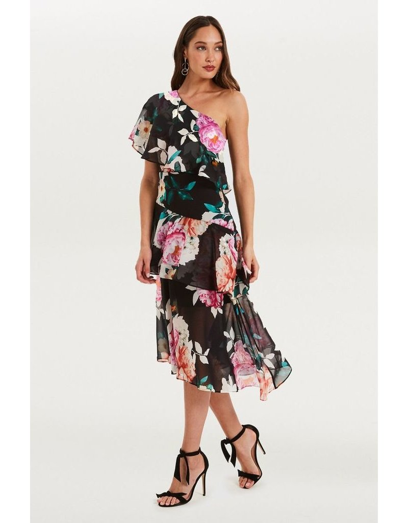 Cooper St Cooper St Petal Pop one shoulder dress