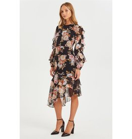Cooper St Chateau Long Sleeve Ruffle Dress