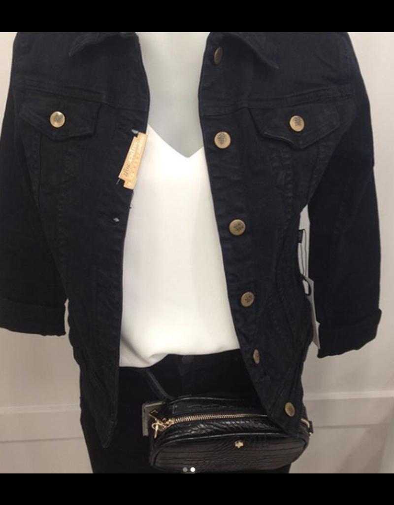 Amelia Black Denim Jacket