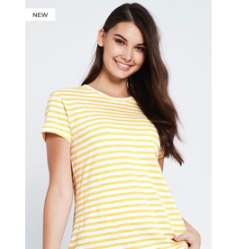 Mavi Mavi Hailey Gold White Stripe Tee