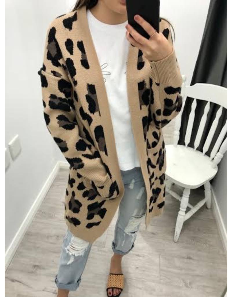 Label Of Love Leopard Cardi