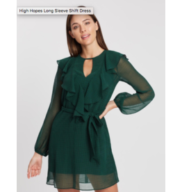 Cooper St High Hopes Long Sleeve Shift Dress